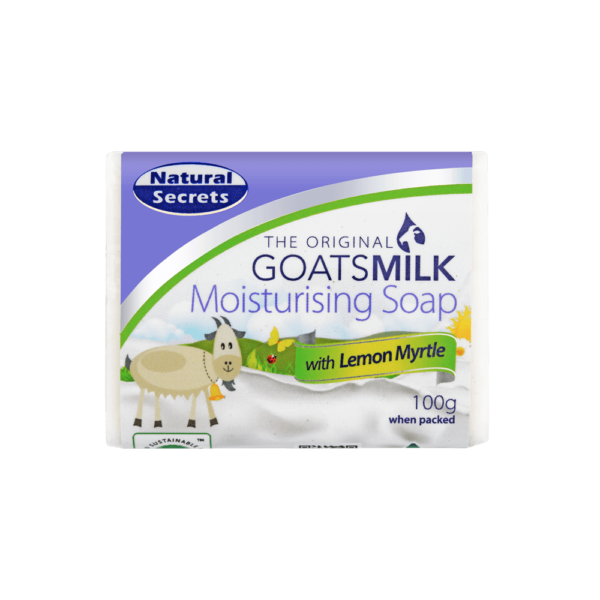 Goats Milk Soap w/ Lemon Myrtle 100g