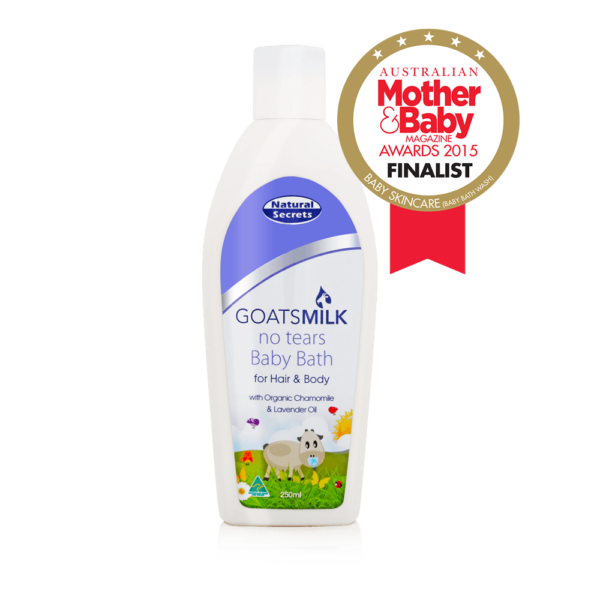 Goats Milk Baby Bath for Hair & Body 250ml